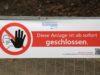 Coronavirus: Spielplätze sind in Solingen für den Publikumsverkehr komplett gesperrt. Soziale Kontakte sollen so vermieden werden. (Foto: © Bastian Glumm)