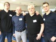 Veranstalteten am vergangenen Samstag das 1. Solinger eSport Symposium und haben noch viel Überzeugungsarbeit vor sich: v.li. David Bruhnke (Stage5 Gaming) , Stefan Opitz (Eversity), Bernd Unger (Stage5 Gaming) und Daniel Fritz (Eversity). (Foto: © Bastian Glumm)
