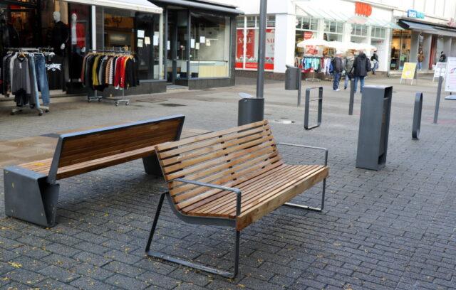 Fußgängerzone und Marktplatz in Ohligs werden umgestaltet. Wie es dort im Detail aussehen soll, können Bürgerinnen und Bürger mitbestimmen. (Foto: © Bastian Glumm)
