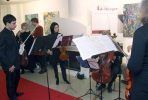 Im Rahmen der Vernissage spielte ein Quintett der Bergischen Symphoniker Stücke von Mozart. (Foto: © B. Glumm)