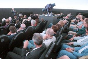 84 Personen finden im Planetarium im ehemaligen Kugelgasbehälter Platz. (Foto: © Bastian Glumm)