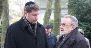 Oberbürgermeister Tim Kurzbach (li.) mit Leonid Goldberg, Vorstandsvorsitzender der Jüdischen Kultusgemeinde Wuppertal. Zu dieser gehört auch Solingen. (Archivfoto: © Bastian Glumm)