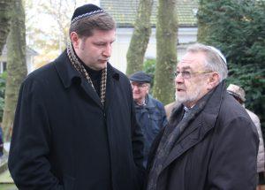 Oberbürgermeister Tim Kurzbach (li.) mit Leonid Goldberg, Vorstandsvorsitzender der Jüdischen Kultusgemeinde Wuppertal. Zu dieser gehört auch Solingen. (Foto: © B. Glumm)