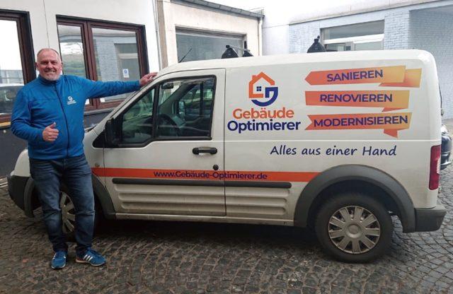Mitten in der Corona-Krise stellt Unternehmer Georg Meyer Personal, Material und Logistik zum Allgemeinwohl in der Klingenstadt zur Verfügung. (Foto: © Klimagriff GmbH)