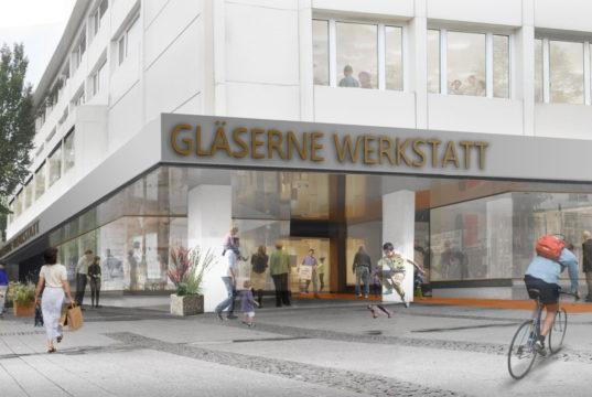 """Im ehemaligen Appelrath & Cüpper-Gebäude entsteht die """"Gäserne Werkstatt"""": (Bild: © raumwerk.architekten)"""