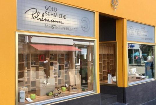 Die Goldschmiede Pohlmann in der Ohligser Fußgängerzone mit neuem Standort an der Düsseldorfer Straße 16. (Foto: © Laura Mertens)