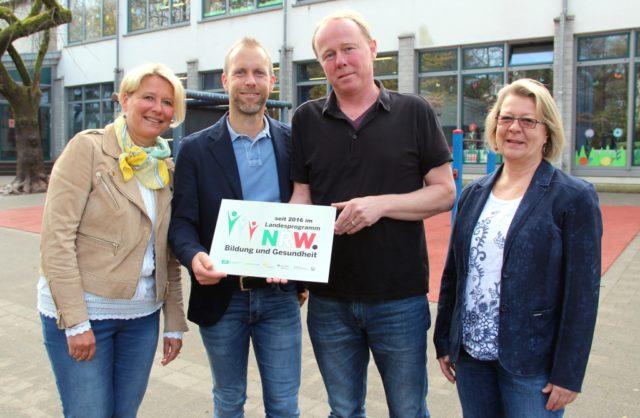 Freuen sich über die Teilnahme der Grundschule Gerberstraße am Landesprogramm