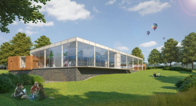 So wird das neue Hallenbad Vogelsang von außen aussehen. Baubeginn soll Anfang 2018 sein. Die Bauzeit wird mit rund 13 Monaten veranschlagt. (Bild: © Stadt Solingen)