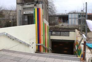 Treppenabgang und den Bereich um den Aufzug wünscht sich die Bürgerschaft heller und freundlicher. (Foto: © Bastian Glumm)