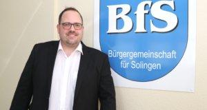 Jan Michael Lange will Oberbürgermeister werden und tritt bei den Wahlen im kommenden Jahr für die Bürgergemeinschaft für Solingen (BfS) an. (Foto: © Bastian Glumm)