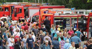Das 4. Kinder-Feuerwehrfest erfreute sich am Samstag ganz hervorragender Resonanz. Der Südpark war bestens besucht. (Foto: © B. Glumm)
