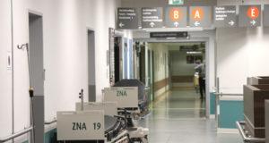 Die Radiologie und der Durchgang zur Zentralen Notfallambulanz im Solinger Klinikum. (Foto: © Bastian Glumm)