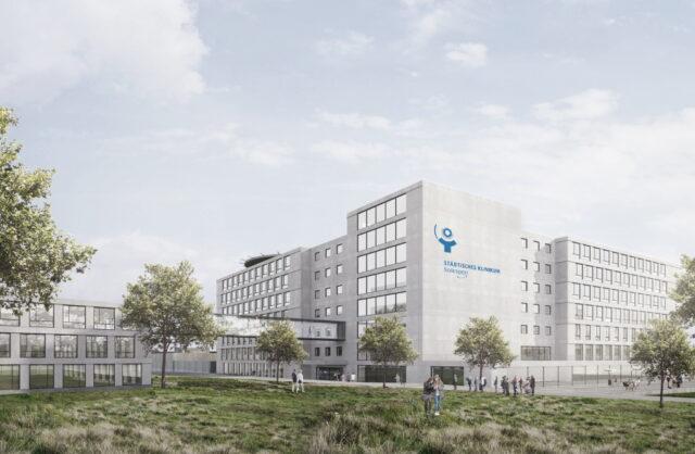 Am Dienstag präsentierte das Klinikum Pläne für den Neubau eines Bettenhauses sowie der Akademie und einer neuen Küche. (Bild: © Klinikum Solingen)