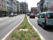 Das Landesamt für Natur, Umwelt und Verbraucherschutz Nordrhein-Westfalen (LANUV) führt an der Konrad-Adenauer-Straße Messungen der Luftqualität durch. Dazu wurde eigens ein Messcontainer aufgestellt. (Archivfoto: © Bastian Glumm)