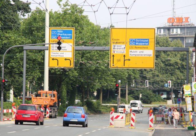 Die Kreuzung Schlagbaum und die Konrad-Adenauer-Straße. (Archivfoto: © Bastian Glumm)