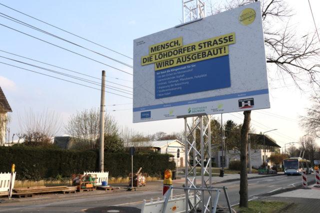 Vor dem Abschluss befinden sich die Bauarbeiten auf der Löhdorfer Straße. (Foto: © Bastian Glumm)