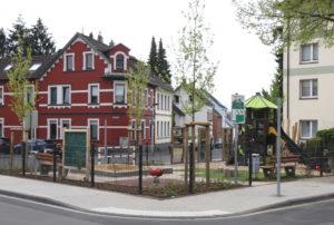 Der neue Spielplatz an der Merkurstraße. (Foto: © Bastian Glumm)