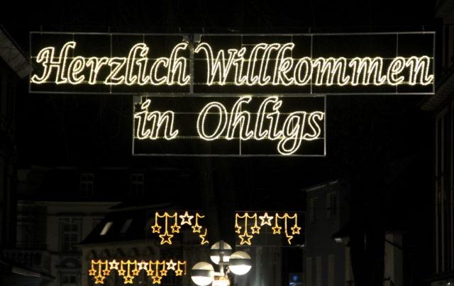 Die Ohligser City wird demnächst wieder weihnachtlich illuminiert werden. (Archivfoto: © Bastian Glumm)