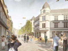 Der Siegerentwurf des Kölner Büros RMP sieht für die Ohligser City mit der Düsseldorfer Straße unter anderem eine hellere und freundlichere Bepflasterung vor. (Foto: © RMP)