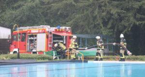 Beim Unwetter Mitte Juli wurde das Heidebad überflutet. Die Feuerwehr war im Einsatz. (Archivfoto: © Bastian Glumm)