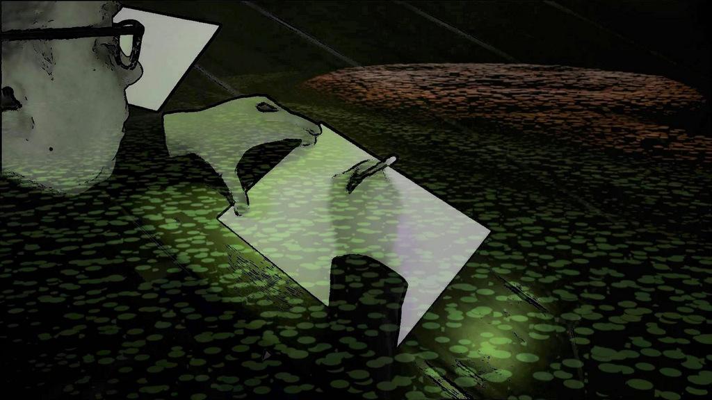 Mit Hilfe des Partikelsystems hat Frank Voß seine Bilder am Computer in viele runde Einzelteile zerlegt. Diese Vorgehensweise findet man häufig in der Animationstechnik. (Foto: © Frank Voß)