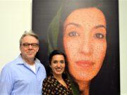 Am Sonntag eröffneten Maryam Sabri und Frank Voß im KUNSTRAUM Solingen ihre Ausstellung pointillism & circelism, in der Punkte und Kreise eine große Rolle spielen. (Foto: © Martina Hörle)