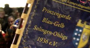 """Die Prinzengarde Blau-Gelb Solingen-Ohligs feiert jedes Jahr das """"111-Tage-Fest"""". (Archivfoto: © Bastian Glumm)"""