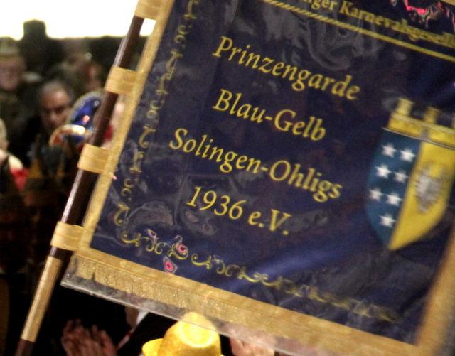 Die Prinzengarde Blau-Gelb Solingen-Ohligs feiert jedes Jahr das