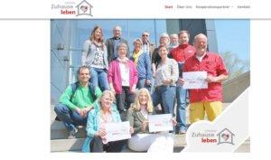 """""""Zuhause leben"""" gibt es jetzt auch online, gestern wurde die Homepage www.initiative-solingen.de freigeschaltet. (Screenshot: www.initiative-solingen.de)"""