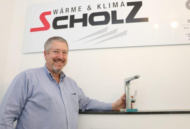 Die Firma Heizungstechnik Scholz ist seit 1967 auf dem Solinger Markt und wird heute von Burkhard (Foto) und Volker Scholz geleitet. (Foto: © Bastian Glumm)