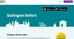 """Verbraucher finden auf der neuen Plattform solingen-liefert.de besondere Angebote, die trotz """"social distancing"""" weiterhin verfügbar sind. (© Wirtschaftsförderung Solingen)"""