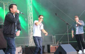"""Die Solinger Hiphopper von """"Sixfiveone"""" standen am Sonntag auf der Bühne der 11. Sommerparty. (Foto: © B. Glumm)"""