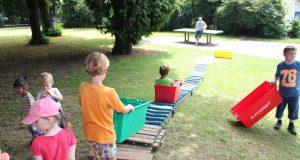 Das Spielmobil der Solinger Jugendförderung ist diese Woche auf dem Spielplatz an der Benrather Straße in Ohligs. (Archivfoto: © Bastian Glumm)