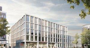 """Am neuen Standort am Neumarkt soll ein """"architektonisch hochwertiges, funktional qualitätsvolles und vor allem wirtschaftliches und nachhaltiges Konzept umgesetzt werden, das sich harmonisch in die städtebauliche Situation und Planung am Neumarkt einfüge"""", so die Stadt-Sparkasse Solingen. (Bild: © Stadt-Sparkasse Solingen)"""