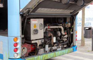 Klappe auf: Im Heck wird bei den neuen Batterie-Oberleitungs-Bussen die Batterie zu finden sein. Die ersten Modelle sollen im Sommer kommenden Jahres in der Klingenstadt unterwegs sein. (Foto: © B. Glumm)