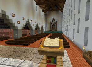 ...und bauten die komplette Kirche so maßstabgetreu wie möglich kurzerhand im Computerspiel Minecraft nach. (Screenshot: Stamm Tenkterer)