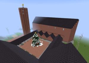 """Die virtuelle Liebfrauenkirche von oben. Fast alle Räume wurden nachgebaut, selbst in den Keller kann man sich im Spiel umschauen. (Screenshot: """"Stamm Tenkterer"""")"""