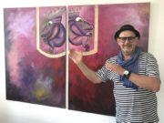Seit Montag stellt Stefan Seeger ein Jahr lang in der Geschäftsstelle Central der Stadt-Sparkasse Solingen seine Kunst aus. (Foto: © Stadt-Sparkasse Solingen)