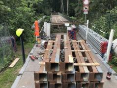 In dieser Woche beginnen die Vorbereitungen zum Abbruch der Strohner Brücke. Das teilt jetzt das Rathaus mit. Die Brücke wird zunächst eingerüstet. (Foto: © Stadt Solingen)