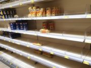 Hamsterkäufe sorgten auch in Solingens Supermärkten zuletzt für deutliche Lücken in den Regalen. (Foto: © Bastian Glumm)