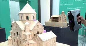 In Zusammenarbeit mit der Kunsthochschule für Medien Köln (KHM) wird der Solinger Kunstverein die Solinger Synagoge am alten Platz optisch wieder auferstehen lassen. Dazu musste zunächst ein Modell eingescant werden. (Foto: © Solinger Kunstverein)