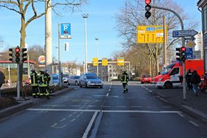 Auf der Kronprinzenstraße kam es am Mittwoch zu einem Auffahrunfall. Eine Person wurde dabei verletzt. (Foto: © T. Oelbermann)