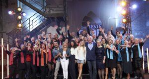 """Am kommenden Freitag findet das Halbfinale des WDR-Wettbewerbs """"Der beste Chor im Westen"""" statt. Der Gospelchor """"unisono"""" ist mit dabei und lädt zum Rudelgucken ins Gemeindezentrum Ketzberg ein. (Foto: © WDR/Melanie Grande)"""