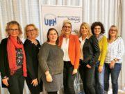 Das Vorstandsteam der Unternehmerfrauen im Handwerk Solingen: v.l. Sigrid Broch (Beisitzerin), Sandra Ronsdorf (2.Vorsitzende), Maya Wiegand (Schriftführerin), Jutta Monscheuer (1.Vorsitzende), Beate Tepel (Beisitzerin), Sandra Worring (Beisitzerin) und Diana Hutz (Kassenführerin). (Foto: © Unternehmerfrauen Solingen)