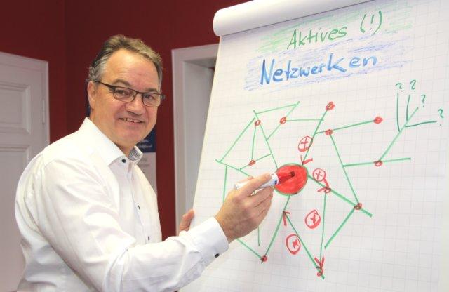 Uwe Steinweh ist Beauftragter des Bundesverbandes mittelständische Wirtschaft (BVMW) für das Bergische Land, er will auch Solingens mittelständische Wirtschaft miteinander vernetzen. (Foto: © Bastian Glumm)
