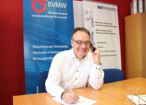 Für den BVMW lädt Uwe Steinweh auch zu zahlreichen Veranstaltungen ein, die über das ganze Jahr stattfinden. (Foto: © Bastian Glumm)
