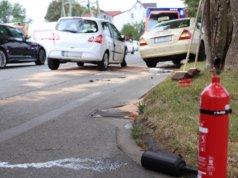 Am Mittwochnachmittag, gegen 17.00 Uhr, kam es in Solingen auf der Burger Landstraße zu einem Verkehrsunfall mit drei verletzten Personen. (Foto: © Das SolingenMagazin)