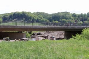 Die Kosten für das Gesamtprojekt (Behelfsbrücke und Neubau) belaufen sich auf rund 6,3 Millionen Euro. Das Land Nordrhein-Westfalen fördert davon 60 bis 70 Prozent. (Foto: © Bastian Glumm)