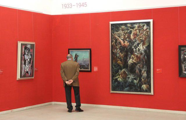 Der Meistermann-Saal im Solinger Kunstmuseum in Gräfrath. (Archivfoto: © Bastian Glumm)