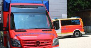 Klinikum Solingen: Rettungswagen und Notarzt vor dem Schockraum der Zentralen Notfallambulanz (ZNA). (Archivfoto: © Bastian Glumm)